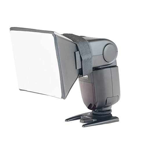Phot-R Professional Photography 13x10cm Universal Softbox Speedlite Speedlight Hot Shoe Flash Diffuser for Flashguns