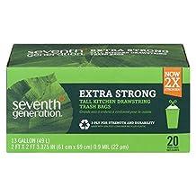 Seventh Generation Drawstring Kitchen Bags, 20 ct