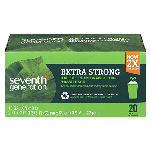 Free Eco Friendly Bags (Seventh Generation, Drawstring Kitchen Trash Bags 13 gal, 20 count)