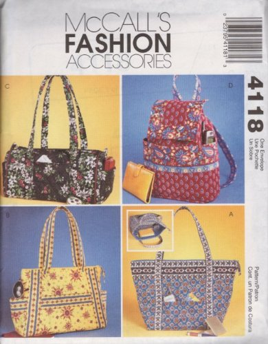 McCall's Fashion Accessories Pattern 4118 for (Mccalls Fashion Accessories)