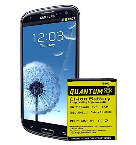 Amazon.com: Batería QUANTUM para Samsung Galaxy S3, 2,100 ...