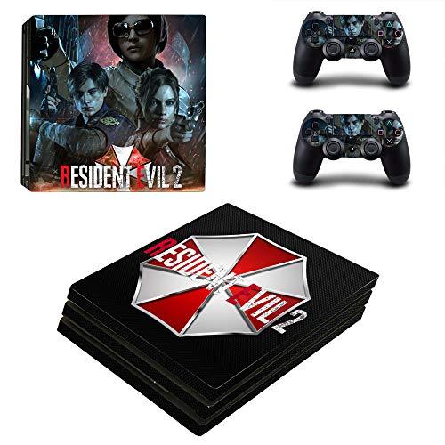 DHE PS4 Pro Skin Decal Sticker Resident Evil 2 Design + 2 Controller Skins Set