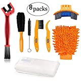 Oumers Bike Bicycle Clean Brush Kit/Cleaning Tools for Bike Chain/Crank/Tire/Sprocket Cycling Corner Stain Dirt Clean, Fit All Bike