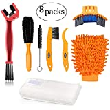 Oumers Bike Clean Brush Kit, Motorcycle Bike Chain Cleaning Tools Make Chain/Crank/Tire/Sprocket Bike Corner Stain Dirt Clean Durable/Practical fit All Bike