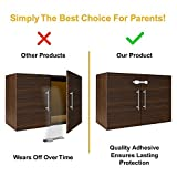 Skyla Homes - Child Safety Cabinet Locks (8-Pack) | No Tools | Baby & Child Proof Drawers, Cabinets, Oven, Toilet Seat, and More | Multi-Purpose Use | No Drilling Needed | Super Strong 3M Adhesive