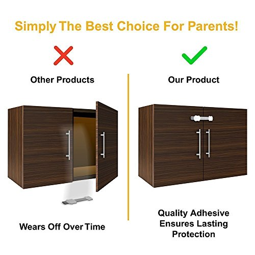 Skyla Homes Child Safety Cabinet Locks 8 Pack No
