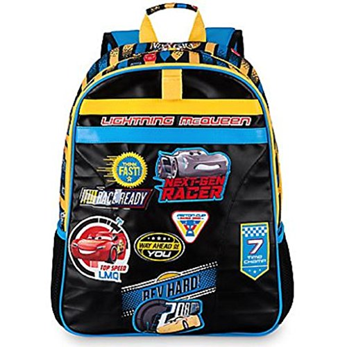 Disney Cars 3 Movie Backpack For Boys Lightning Mcqueen Winner Patch Large Backpack