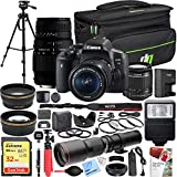 Canon EOS Rebel T6i DSLR Camera EF-S 18-55mm is STM + Sigma 70-300mm f/4-5.6 DG Macro Telephoto Zoom 2 Lens Kit + 500mm Preset f/8 Lens + 0.43x Wide Angle, 2.2X Pro Bundle