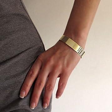 9ebdce1d802 Wide Cuff Bracelet - 14K Gold Filled Personalized Cuff - Monogram Engraved  Bracelet - Fashion Jewelry - Monogram Jewelry - Monogram Cuff - Gold Cuff -  Gift ...