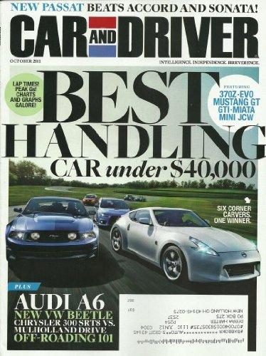 Car and Driver Magazine October 2011 Passat Audi A6 Mustang GT