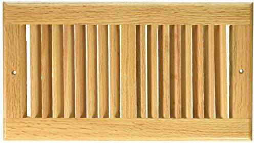 Decor Grates WL612R-N 6-Inch by 12-Inch Wood Return Air, Natural Oak