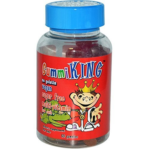60 Gummi Fish - Gummi King Sugar-Free Multivitamin Supplement, Strawberry/Lemon/Orange/Grape/Cherry/Grapefruit, 60 Count by Gummi King