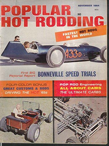 POPULAR HOT RODDING Bonneville Speed Trials Cams Carbs Corvair + 11 1964