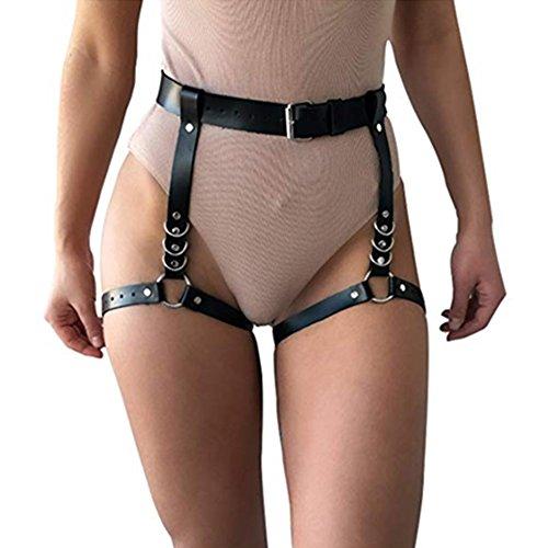 Garter Belts Devoted Handmade Leather Harness Lingerie Garter Belts Adjustable Body Straps Restraints