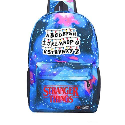 YOUNELO Kid's Cartoon Stranger Things Rucksack School Backpack Bookbag for Boys Girls(b2) -