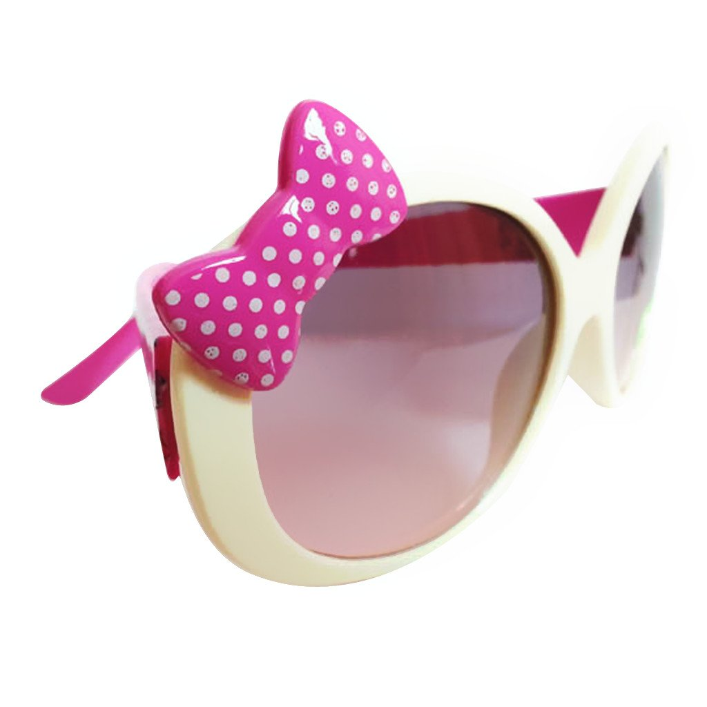 Kids Cute Fashion Bowknot Decoration Fun Sunglasses Gift White Frame Generic STK0115018616