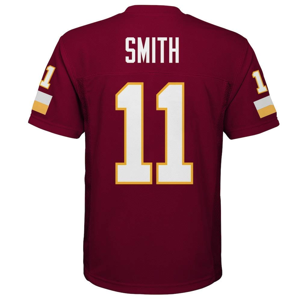 Outerstuff Alex Smith Washington Redskins NFL Youth 8-20 Red Home Mid-Tier Jersey