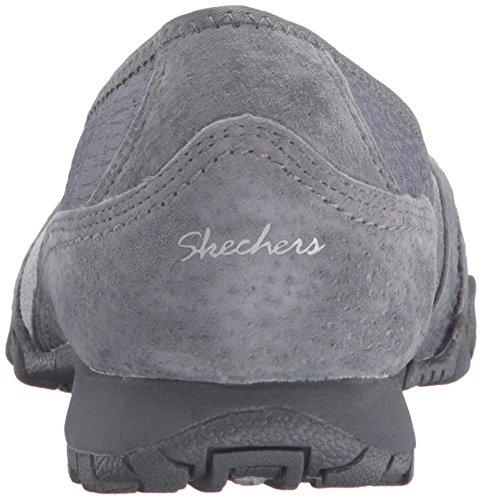 Skechers Bikers-écumes Appartement Charcoal Mesh/Suede