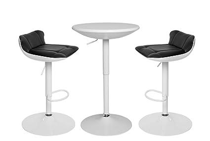 More design set studio set pasto 1 tavolo alto e 2 sgabelli