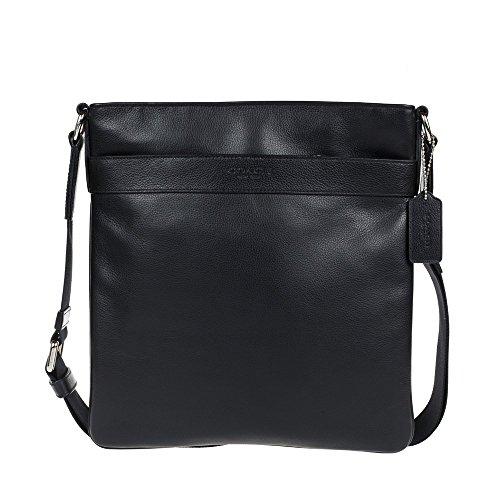... Coach mens cross body messenger leather bag F54780 BLK Handbags  Amazon.com ... 57499aeb7d0f1