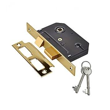 Yale Essentials - Cerradura de seguridad (64 mm, 3 palancas), YES-SL-PB-64 0W: Amazon.es: Bricolaje y herramientas