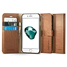 Spigen Wallet S iPhone 7 Case with Foldable Cover and Kickstand Feature for iPhone 7 2016 - Brown