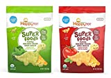 Happy Tot Superfoods Dino Snacks Bundle: Kale, Spinach & Cheddar and Tomato, Basil, & Cheddar (1 bag of each)