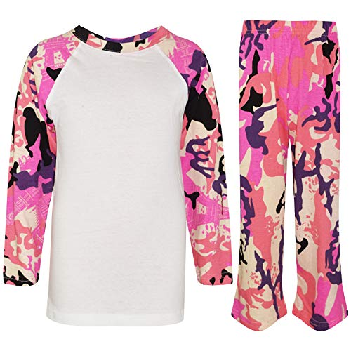 Âge 9 7 Camo Set 8 Pj's Bébé Ans Couleur 5 Pyjamas Rosé Unisexe Kids 11 6 4 13 A2z 12 Contraste 10 Plaine 7RzFF6