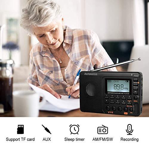 Retekess V115 Portable AM FM Radio with Shortwave Radio MP3
