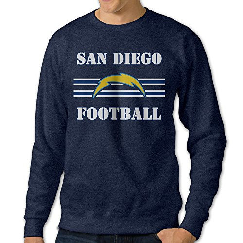 U9 Men's San Diego Logo Chargers Crewneck Sweater Size M