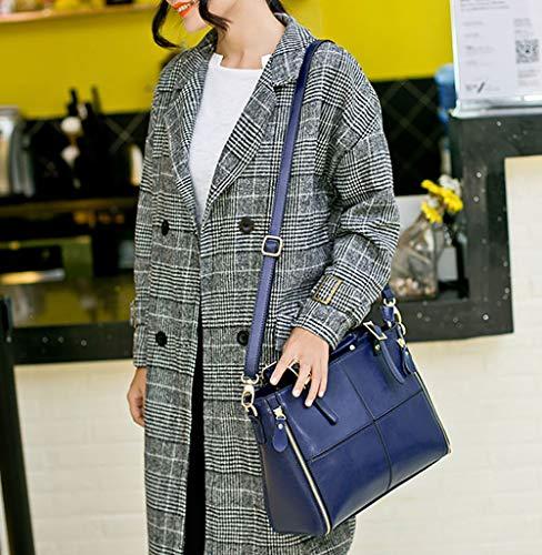 Bleu épaule portés Bleu bandoulière Sacs Foncé Faux Femme Cuir DEERWORD Sacs Foncé Cartable portés Sacs main Sacs ROnEY8
