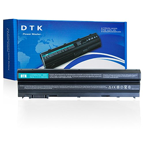 Dtk® 9 Cells High capacity Laptop Notebook battery for Dell Latitude E5420 E5430 E5530 E6420 E6430 E6520 E6530 Inspiron 4420 5420 5425 7420 7520 4720 5720 M421R M521R N4420 N4720 N5420 N5720 N7420 Vostro 3460 3560 Series T54fj [ 9-cell 11.1v 7800mah ]