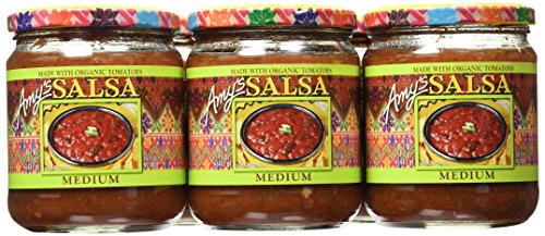 AMYS SALSA MEDIUM GF ORG, 14.7 OZ (Pack of 6) ()