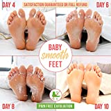Plantifique Foot Peel Mask to Exfoliate Dead Skin - Dermatologically Tested Exfoliating Foot Mask to Get Baby Soft Feet - Callus Removal, Dead Skin Cracked Heel Treatment - 2 Pairs Foot Scrub Booties