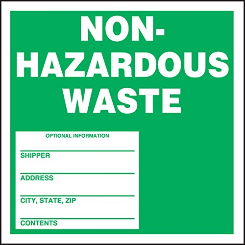 Accuform Signs MHZW11PSP Adhesive Coated Paper Hazardous Waste Label, Legend