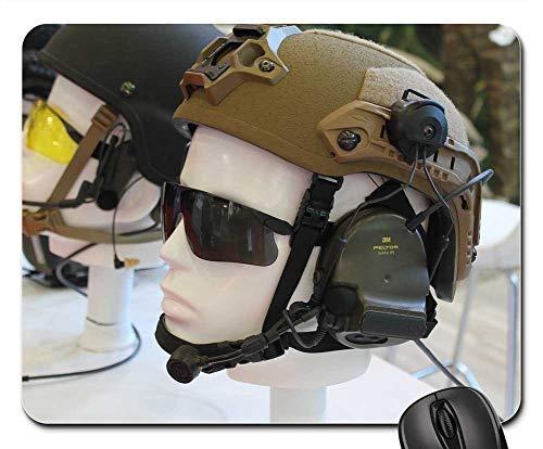 Mouse Pads - Soldier War Eyewear Weapons Helmet ()