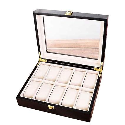 Cajas de relojes Caja de relojes de madera Organizador de ...