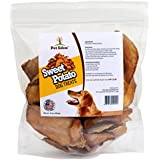 Pet Eden Sweet Potato Dog Treats Made in USA Only, Best Grain Free Natural Healthy Chews for Dogs, 1 lb, Free of Fillers, No Additives, No Preservatives, Premium Quality Gourmet Snacks for All Dogs