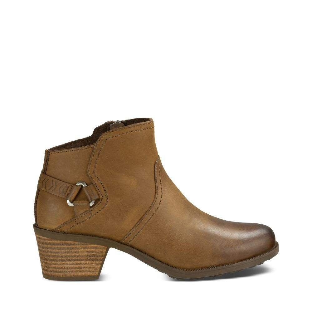Teva Women's W Foxy Leather Boot, Brown, 8.5 M US