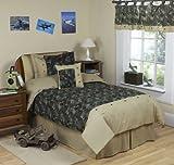 Sweet Jojo Designs 3-Piece Green Camo Children's and Teen Full / Queen Boys Bedding Set