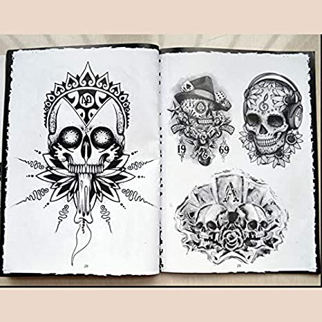 Amazon.com: Bestchoice - Sale 76 Pages A4 Sketch Selected Skull ...