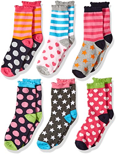 Fashion Sock Stripe - Jefferies Socks Little Girls Fashion Crew Socks 6 Pair Pack
