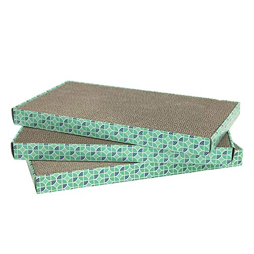 Kitty City XL Wide Corrugate Scratchers, 3 Piece(Longer Lasting Cardboard) ()