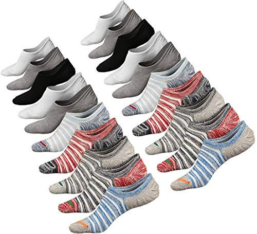 No Show Socks Women Non Slip Low Cut Cotton Liner Sports Casual Socks 10 Pairs (10 Pairs)