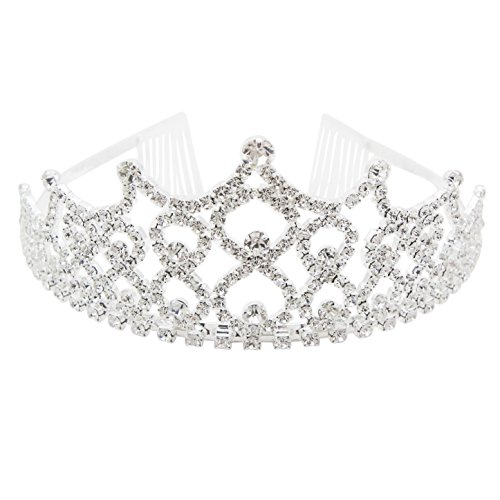 Best Of British Party Costume Ideas - Rosemarie Collections Women's Seven Point Rhinestone Bridal Tiara