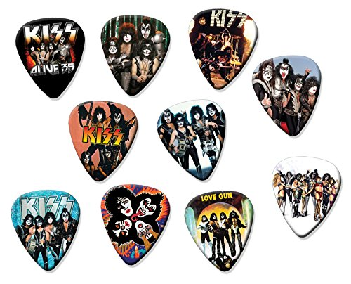 Kiss (Tribute Edition) Set of 10 Electric Acoustic Guitar Plectrums (Guitar Pick Kiss)