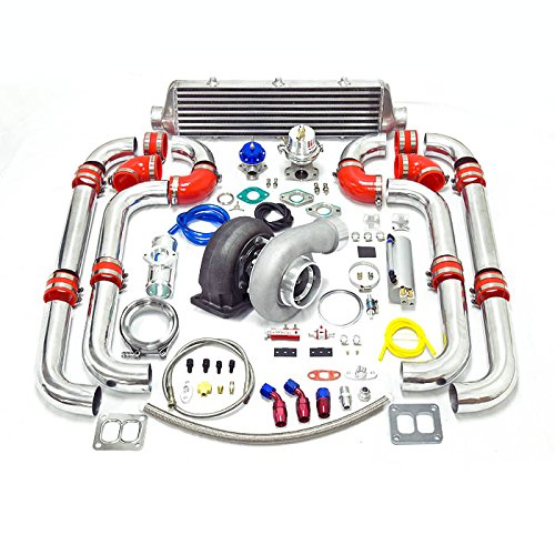 Universal Turbocharged Upgrade GT45 T4 12pc Turbo Kit