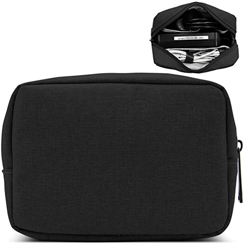 BAONA Laptop Power Adapter Bag for Power Bank, Hard Drive, Pouch Cover Case for Power Cord and Various Other Accessories (Small, Black)