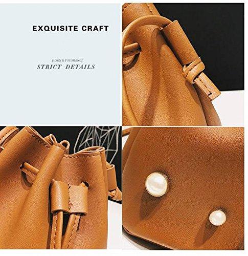 Solido Donna Di A Borse Singolo Cubo Telefonia Tracolla Cellulare Cordini Pearl Colore Cubi Perla nx78TT
