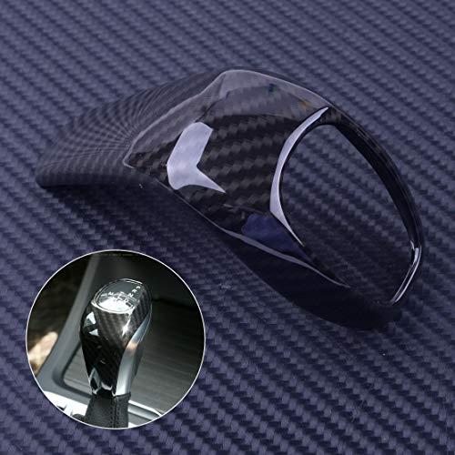 (DDV-US 1Pc Black Carbon Fiber Style Gear Shift Knob Head Cover Trim Fit For BMW X1 F48 2016-2017 2 Serie F46 2015 2016 2017)